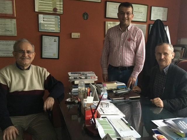 Dr. H. İbrahim Kahraman'a geçmiş olsun ziyareti