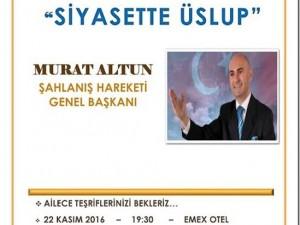 Murat Altun Konferansına Davet