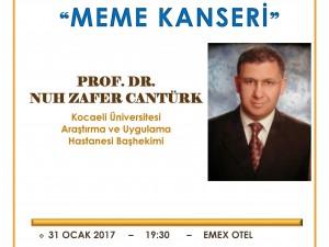 Prof . Dr. Nuh Zafer CANTÜRK 31 Ocak'ta Akça Koca Kültür Platformu'nun konuğu olacak.