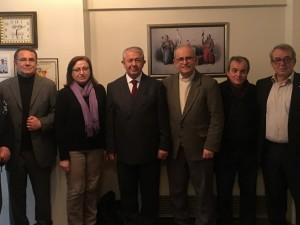 CHP'den Ahsen Okyar'ı ziyaret..