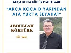 Abdullah Köktürk 22 Aralık Cuma günü Emex Otel'de