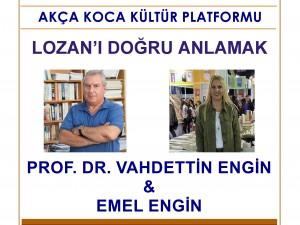 Akça Koca Kültür Platformu konferansları Prof. Dr. Vahdettin Engin ile devam ediyor