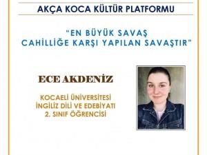 15. Konuşmacı Ece Akdeniz..